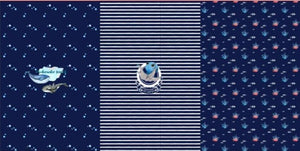 Jersey Panel - Underwater World on Navy Blue-Jersey Panel-Jelly Fabrics