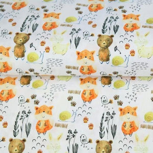 Jersey Fabric - Digital Woodland Animals-Jersey Fabric-Jelly Fabrics