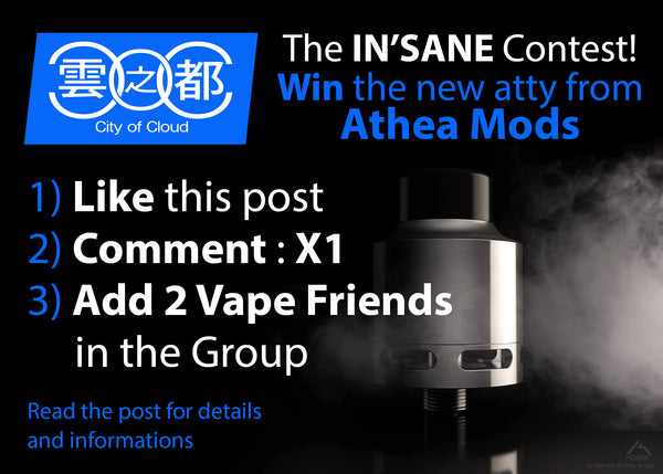 The IN'SANE Contest<br> Win the latest RDTA from Athea Mods (Contest Over)