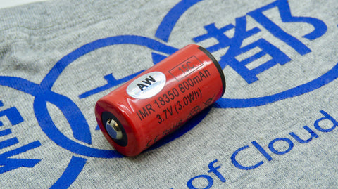 Battery <br>AW 18350 IMR <br>3,7V - 800 MAH - 12A