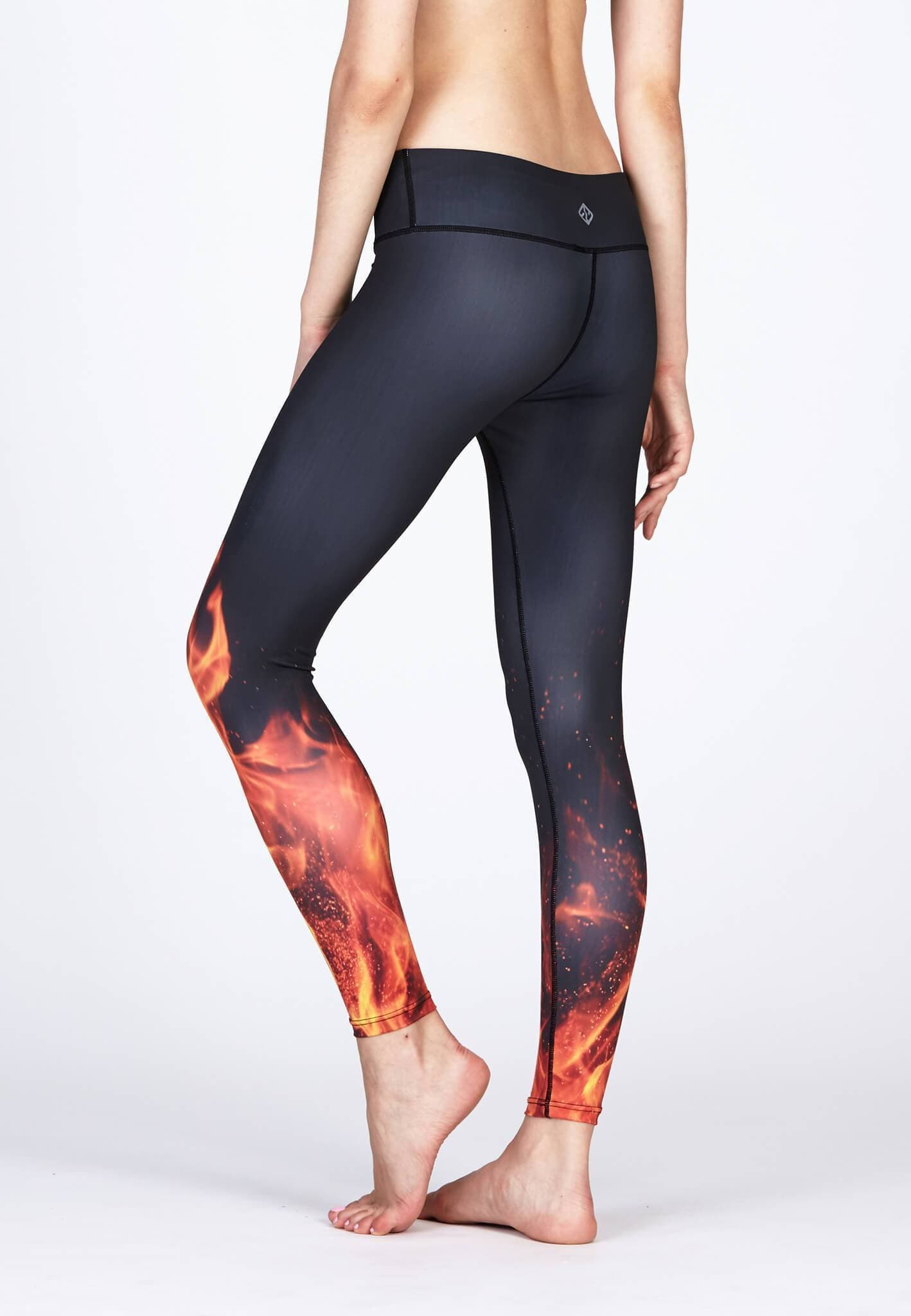 25d6f463583a54 Movement Leggings in Blaze Print(S-XL) - FUNFIT