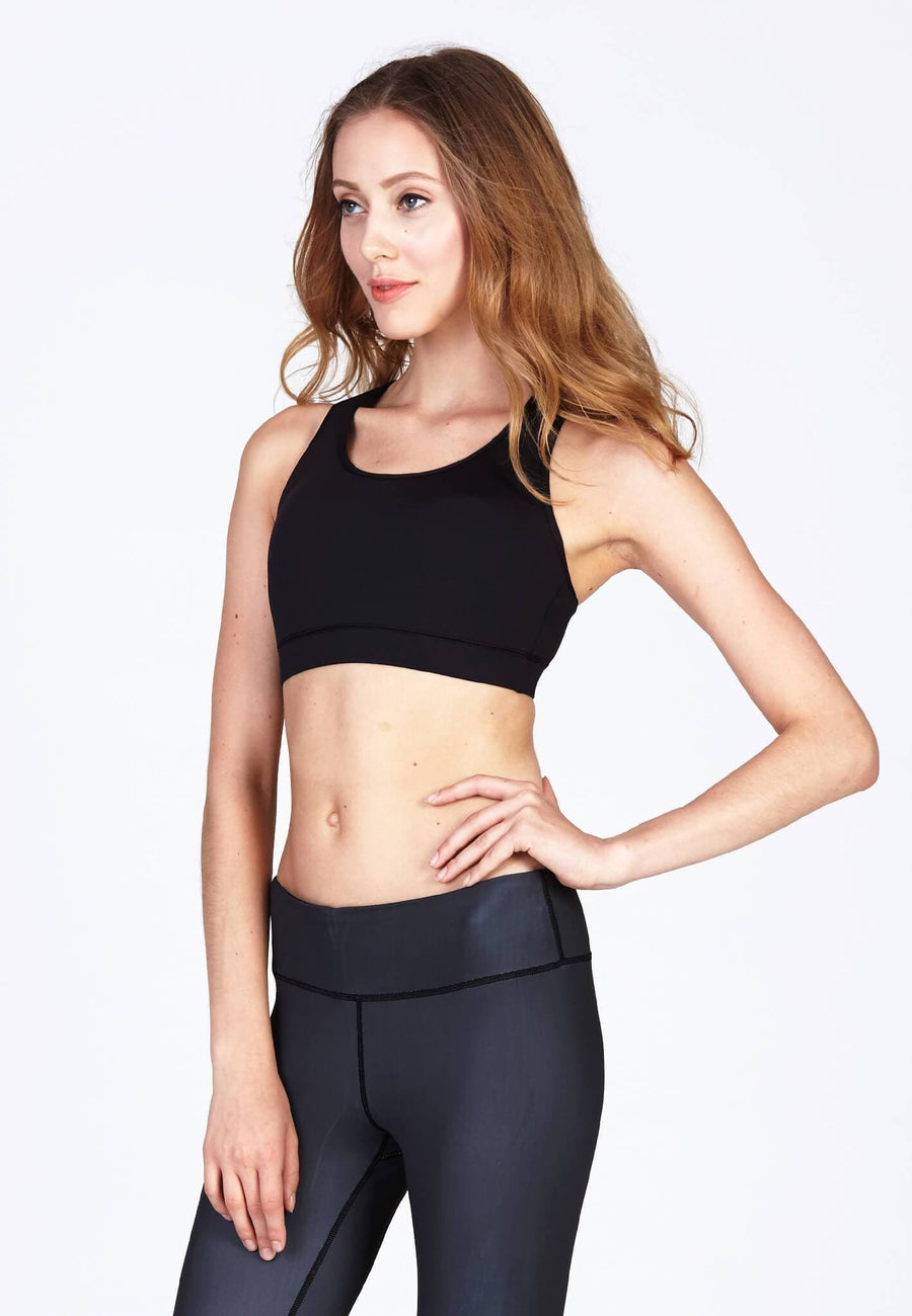 X Fit Tactel® Bra in Jet Black (S-2XL)