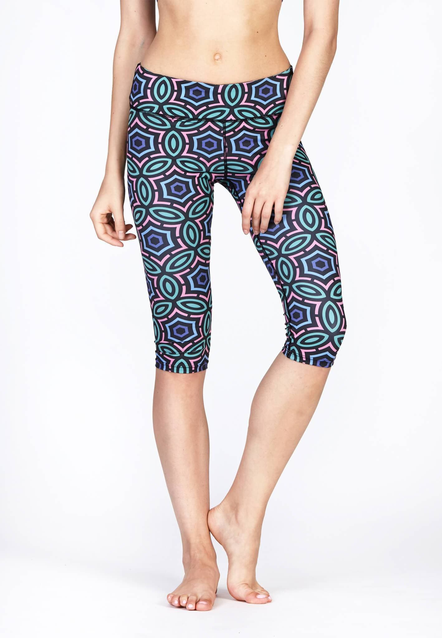 FUNFIT Active Capris in Jewel Print (S - XL)