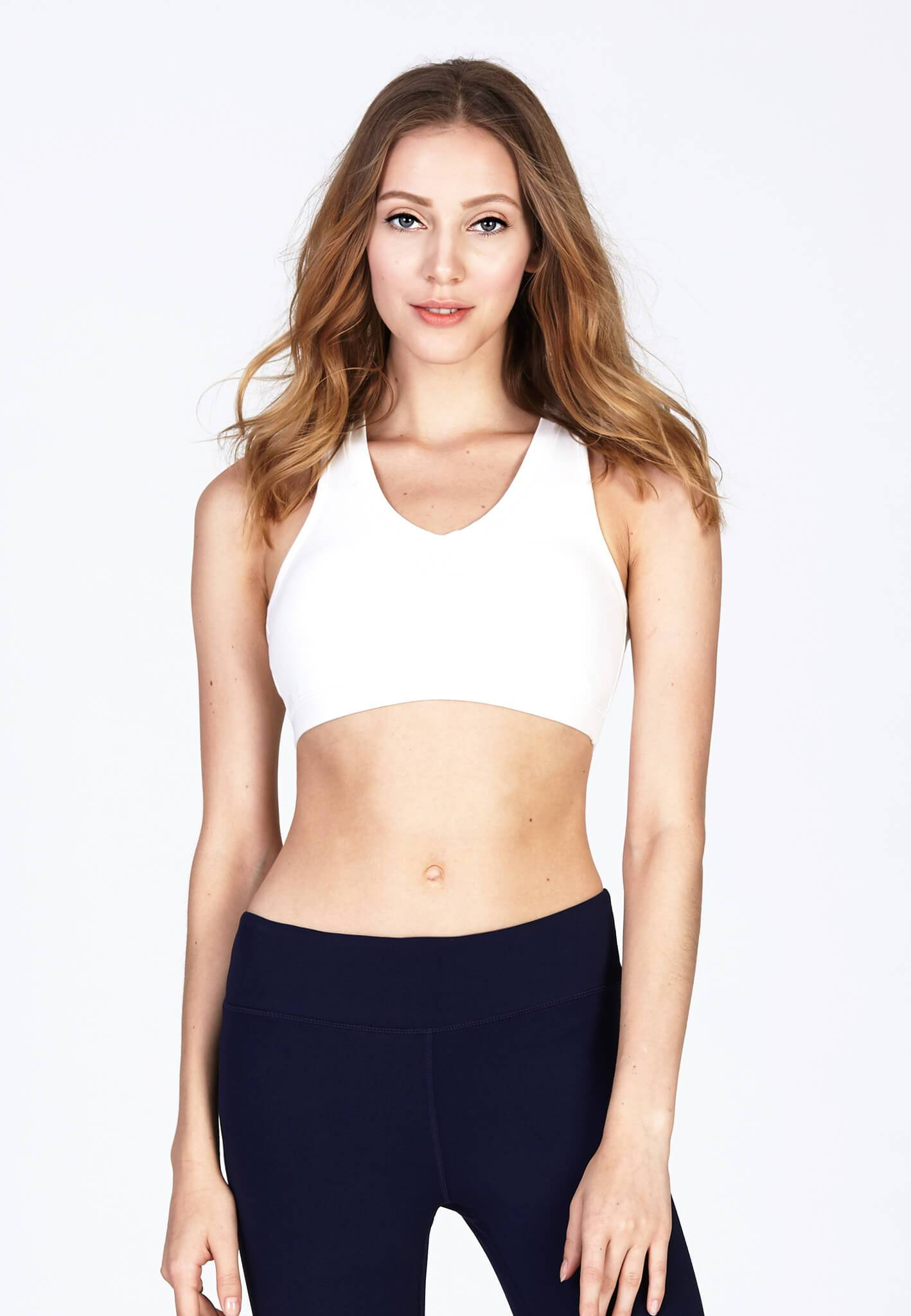Energy Cotton Sports Bra in White (S - 2XL) - FUNFIT