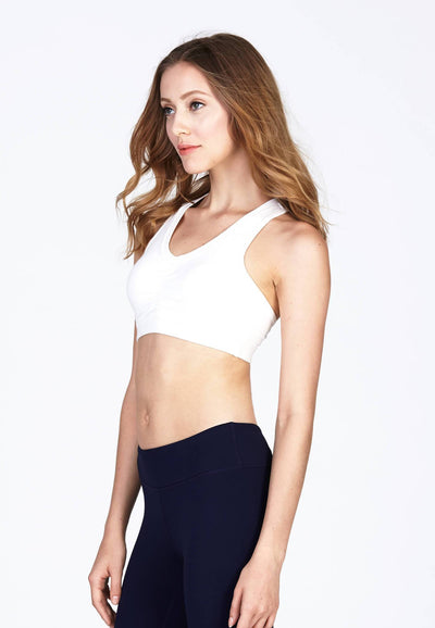 Studio Fit Cotton Bra in White