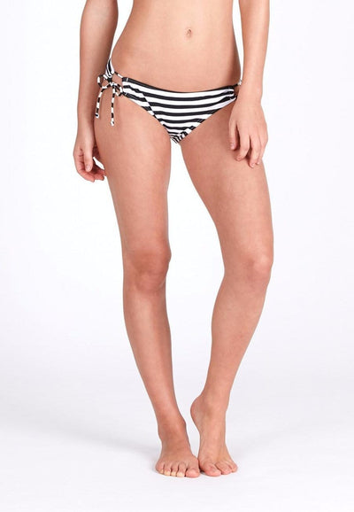 Tie String Swim Bottom in Striped Print - FUNFIT