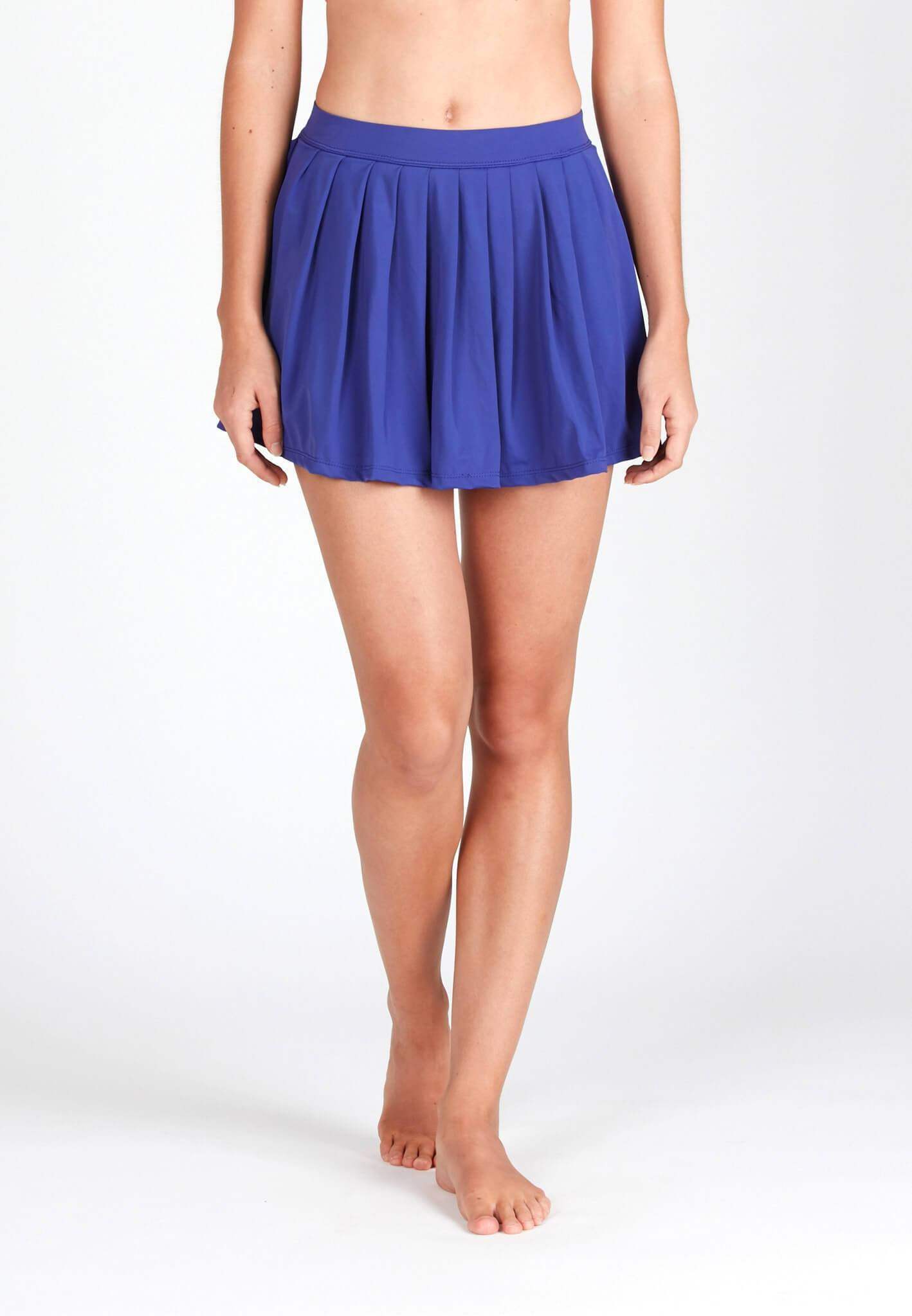 FUNFIT Pleated Swim Skorts in Reflex Blue (XS - XL)