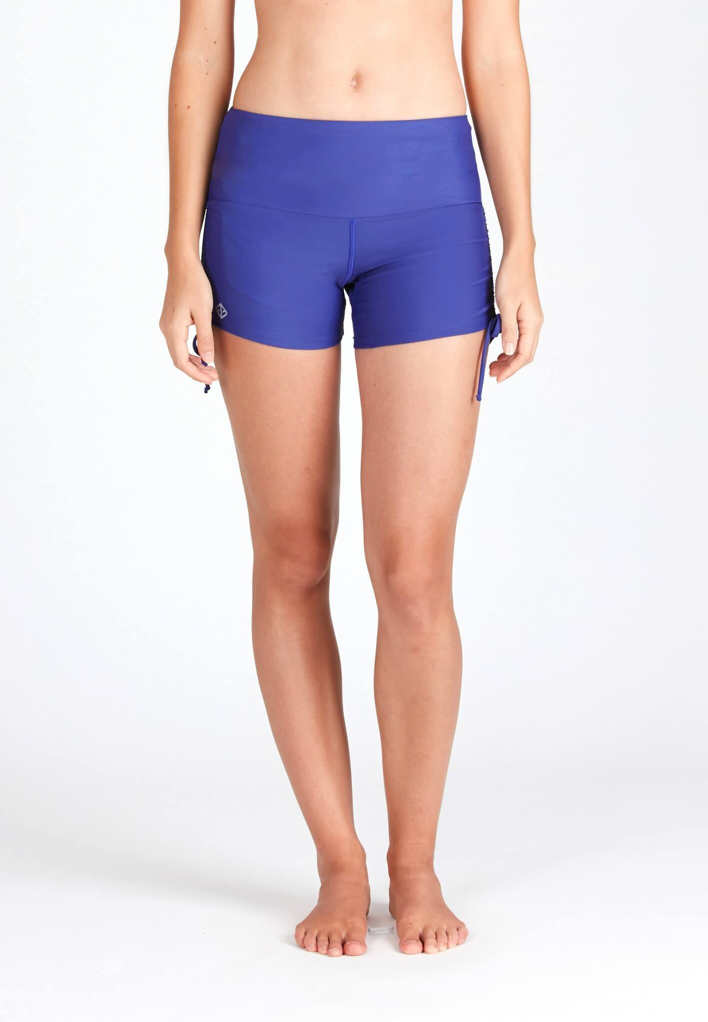 Wide Waistband Shorts in Reflex Blue - FUNFIT