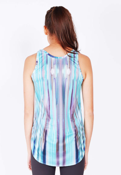 Mind and Body Circular Tank Top in Iridescence Print - FUNFIT