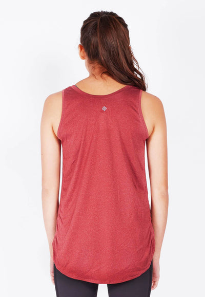 Mind and Body Circular Tank Top in Burnt Red - FUNFIT
