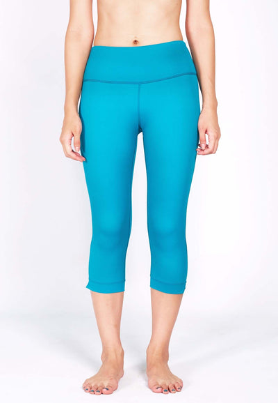 DEFINE 3/4 Capris (with Keeperband®) in Aqua - FUNFIT