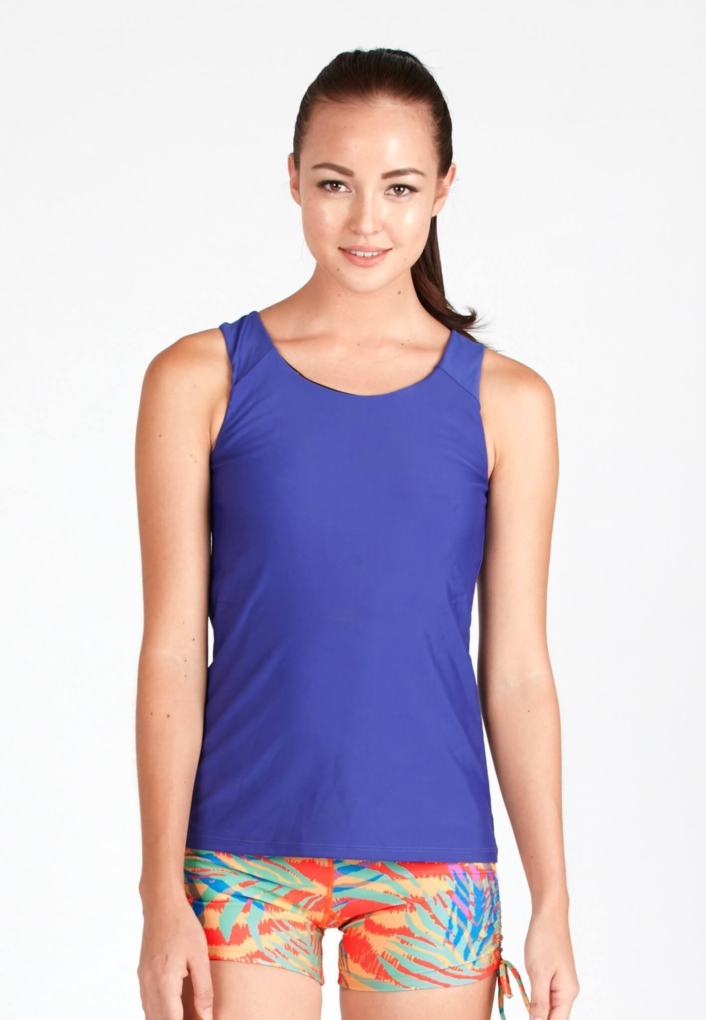 Essential Rash Top in Reflex Blue - FUNFIT