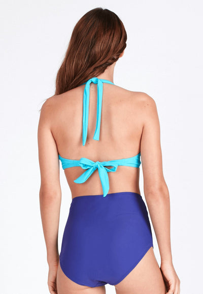 Push-Up Underwire Bikini Top (with Bow) in Turquoise - FUNFIT