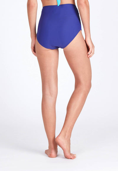High Waisted Swim Bottom in Reflex Blue - FUNFIT