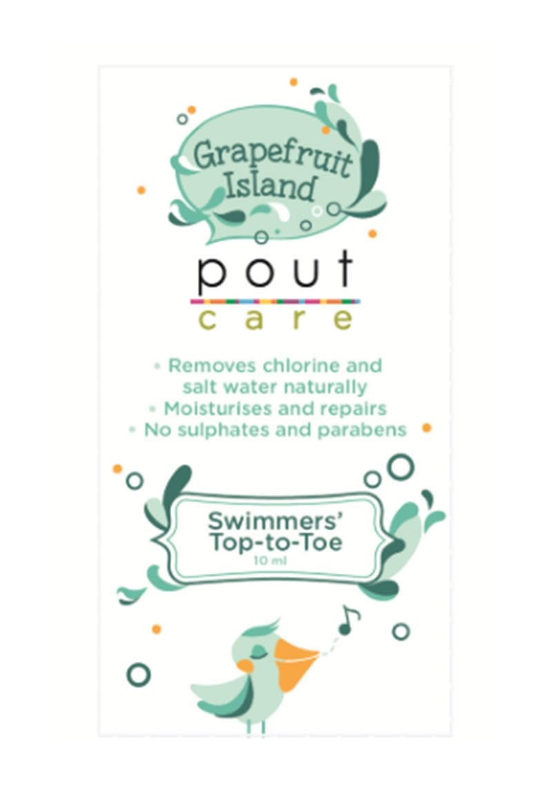 POUT Grapefruit Island Swimmers' Top-to-Toe Travel Sachet