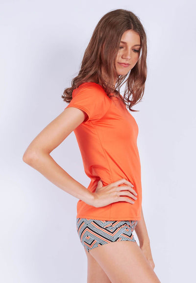 Power-Up Tee in Cider Orange - FUNFIT