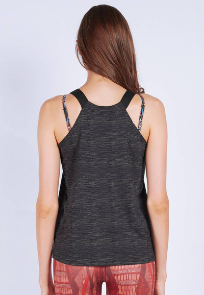 Barre-With-Us Tank Top in Textured Black - FUNFIT