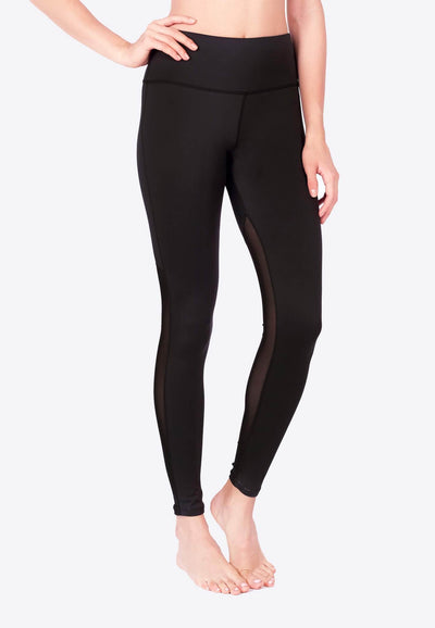 LIMITLESS Back Mesh Leggings (with Keeperband®) in Black - FUNFIT