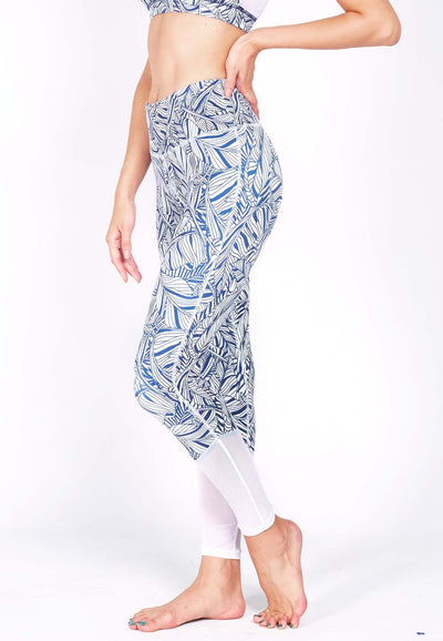 HYPE Blocking Leggings (with Keeperband®) in Mesh/ Liberty Print - FUNFIT