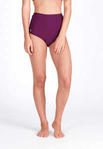 High Waisted Swim Bottom in Mulberry (XS -XL)