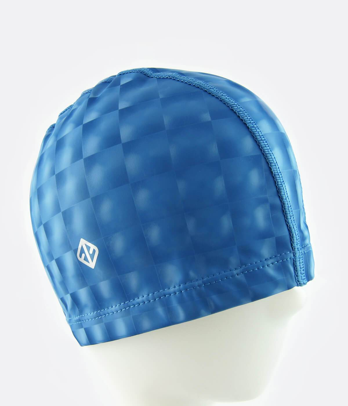 PU Coated Swimming Cap in 3D Lenticular Blue - FUNFIT