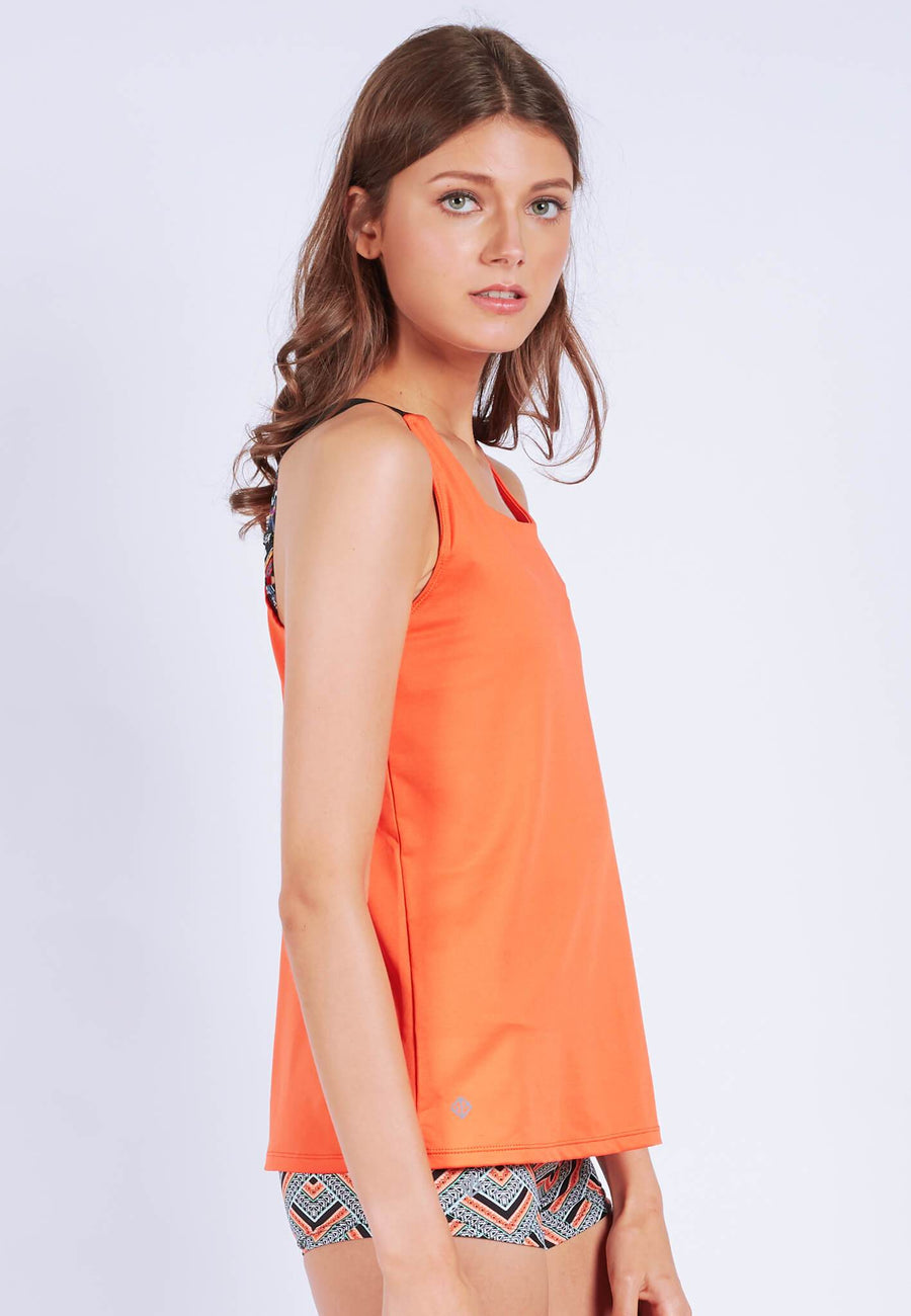 Barre-With-Us Tank Top in Burnt Orange (S - XL) - FUNFIT