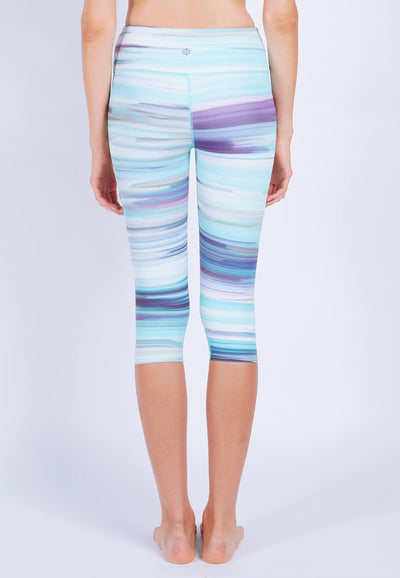 INTENSITY 3/4 Capris (with Keeperband®) in Iridescence Print - FUNFIT