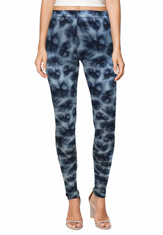 Stretch Leggings in North Storm Print-FUNFIT