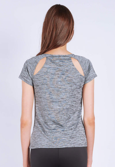 Power-Up Tee in Heather Grey - FUNFIT