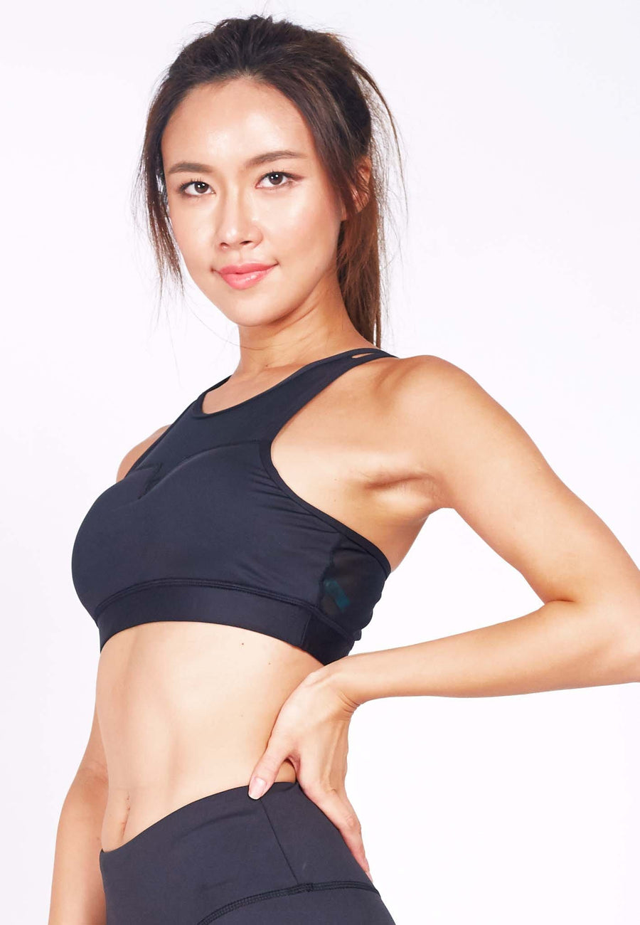 Revival Crossback Sports Bra in Black (S - 3XL)