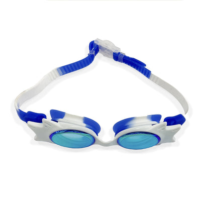 TINTED WING FRAME JUNIOR GOGGLES  (BLUE/WHITE) - FUNFIT