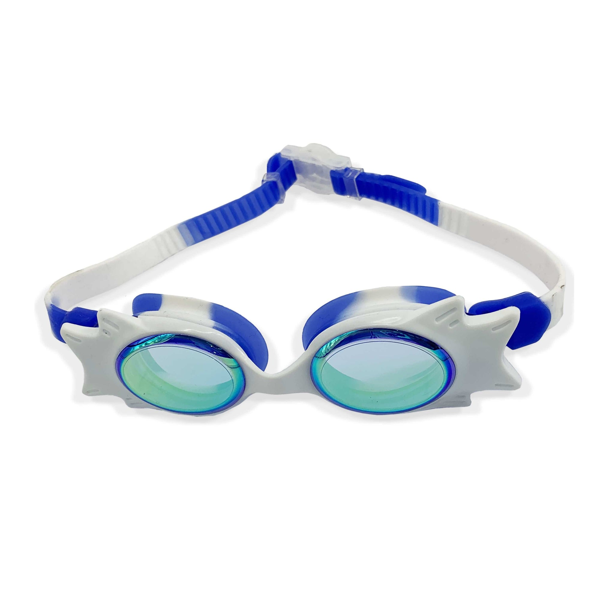 FUNFIT Tinted Wing Frame Junior Goggles (Blue/White)