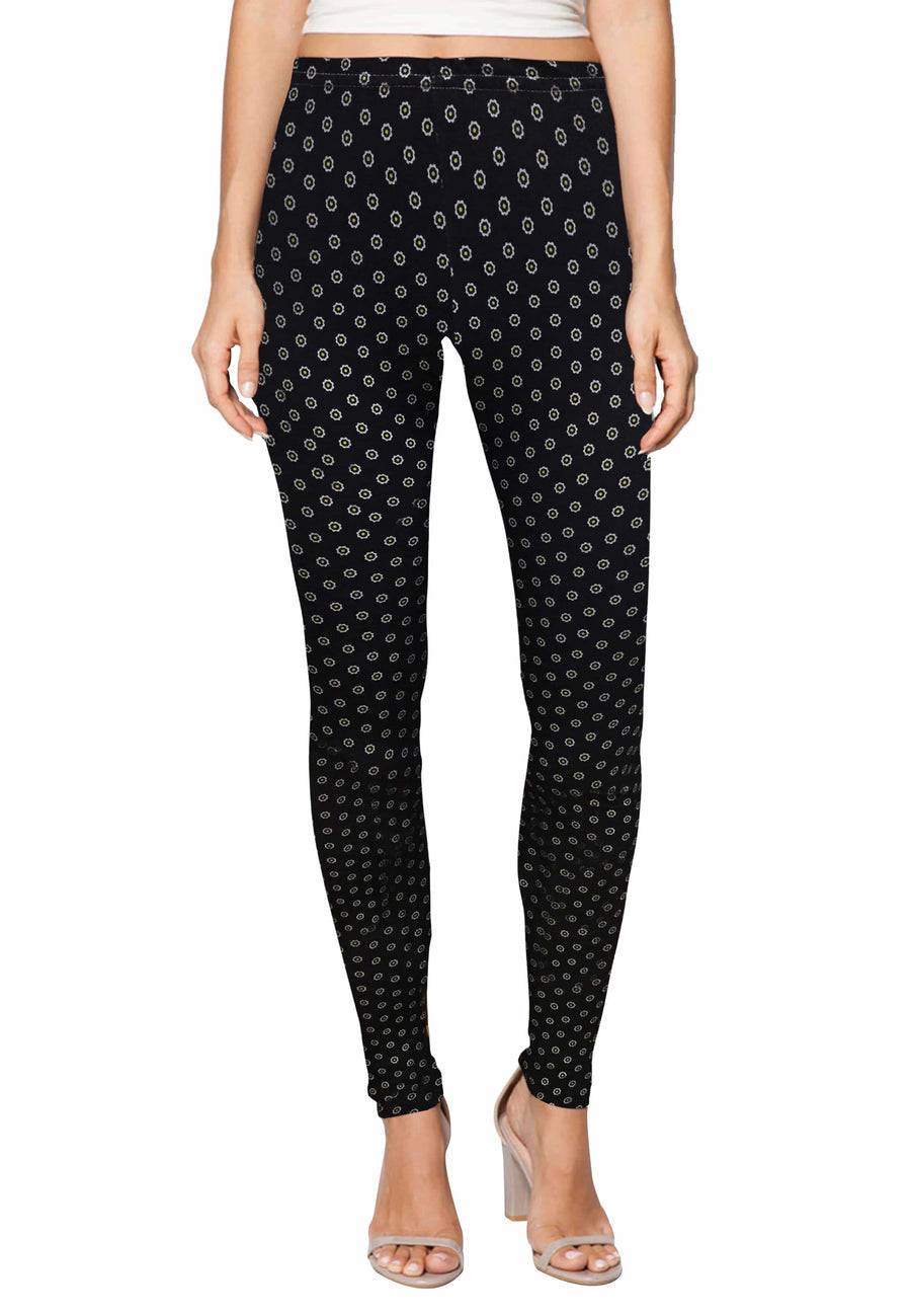 Stretch Leggings in Moonbeam Print (Free Size) - FUNFIT