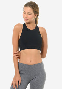 Classic Racerback Sports Bra in Black (S - XL)