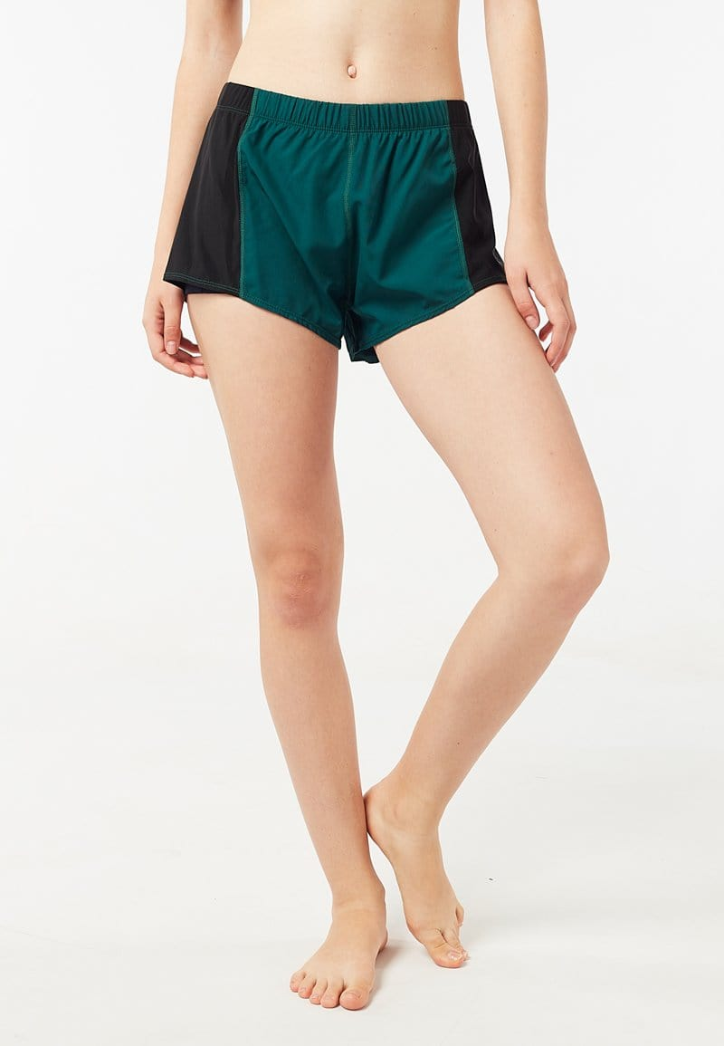 Overlay Side Mesh Shorts (Dark Green) | XS - 2XL