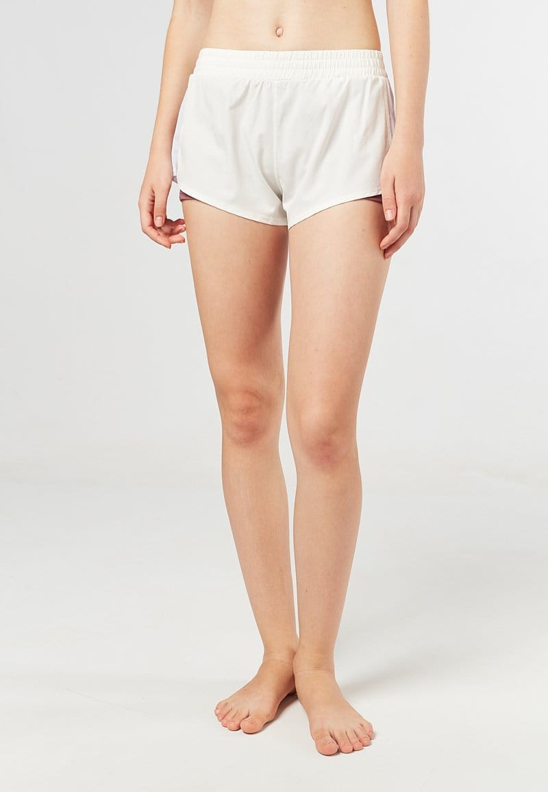 Overlay Side Mesh Shorts (White) | S - 3XL
