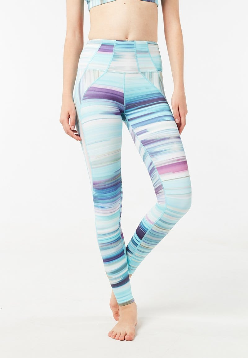 Intensity High Waisted Side-panel Mesh Leggings (Iridescence) | XS - 2XL
