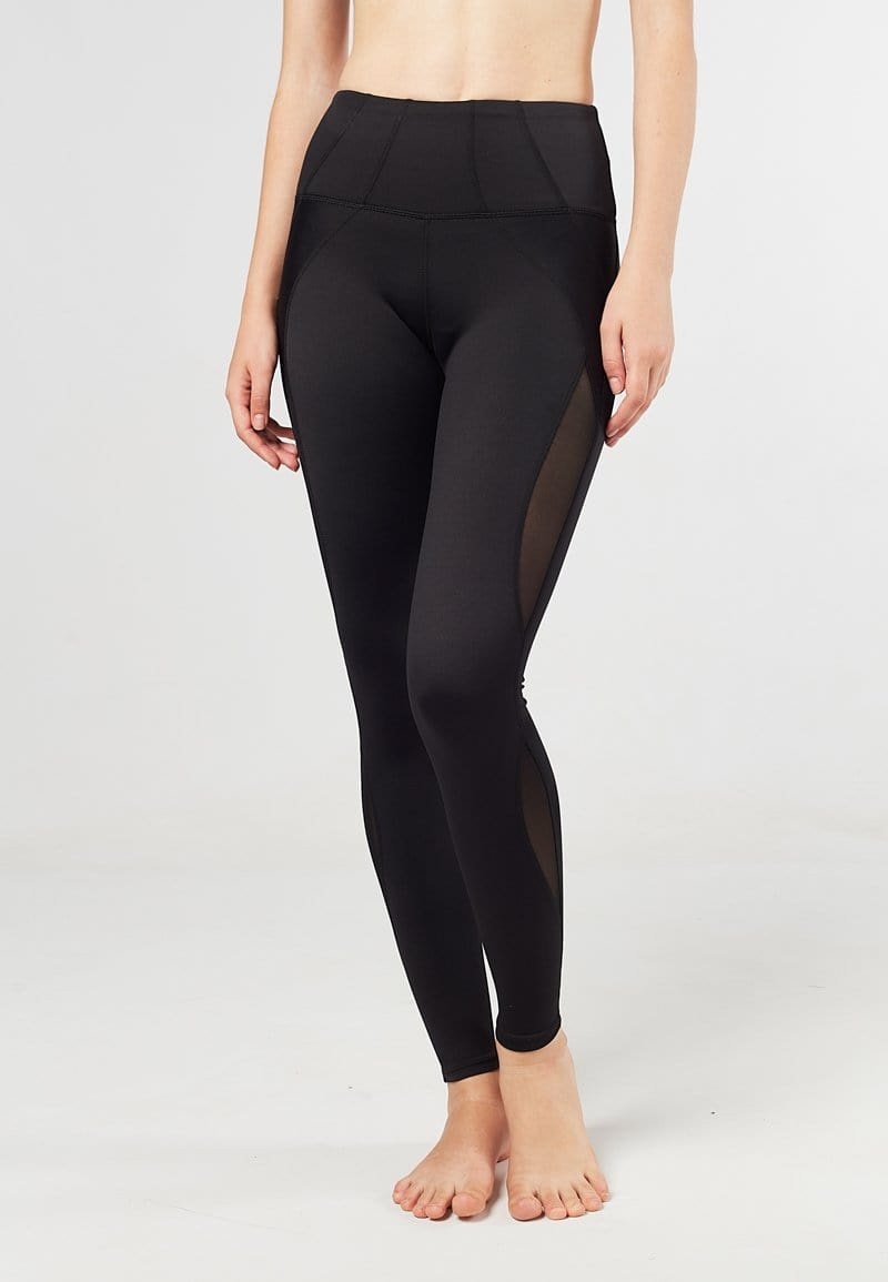 FUNFIT Intensity High Waisted Side-panel Mesh Leggings (Black) | XS - 2XL
