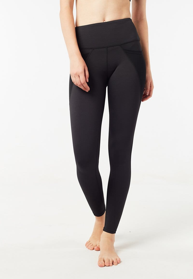 Intensity High Waisted Side-pocket Mesh Leggings (Black) | XS - 2XL