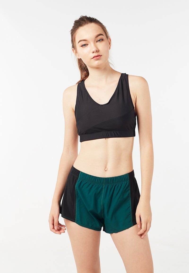 Colourblock Sports Bra (Black) | XS – 2XL