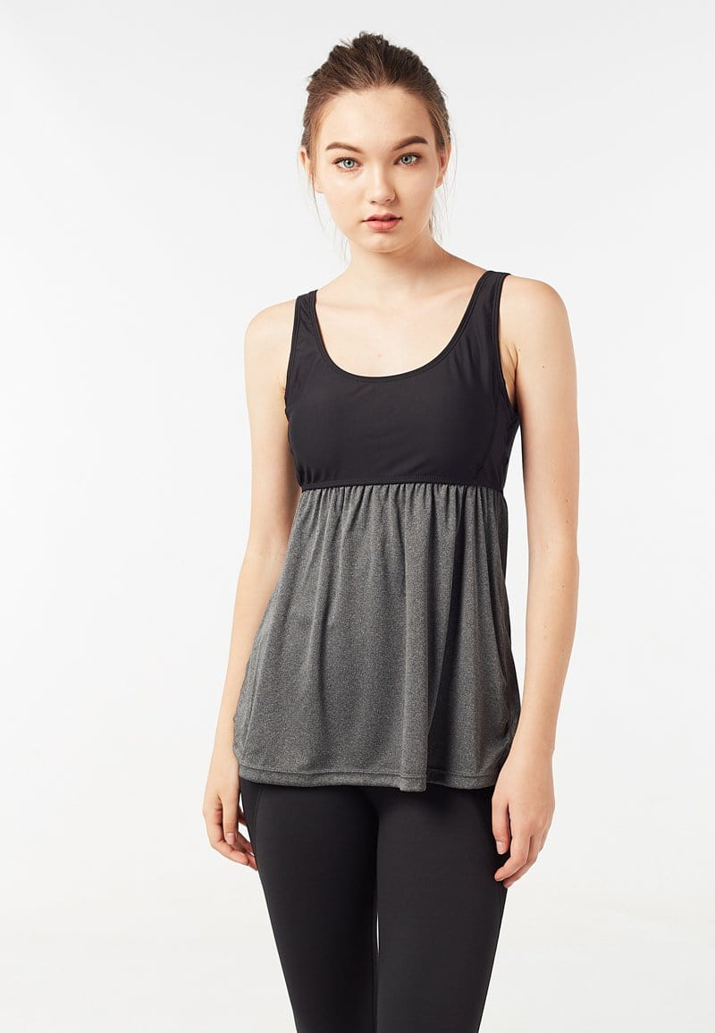 FUNFIT Babydoll Tank Top (Black) | XS – 2XL