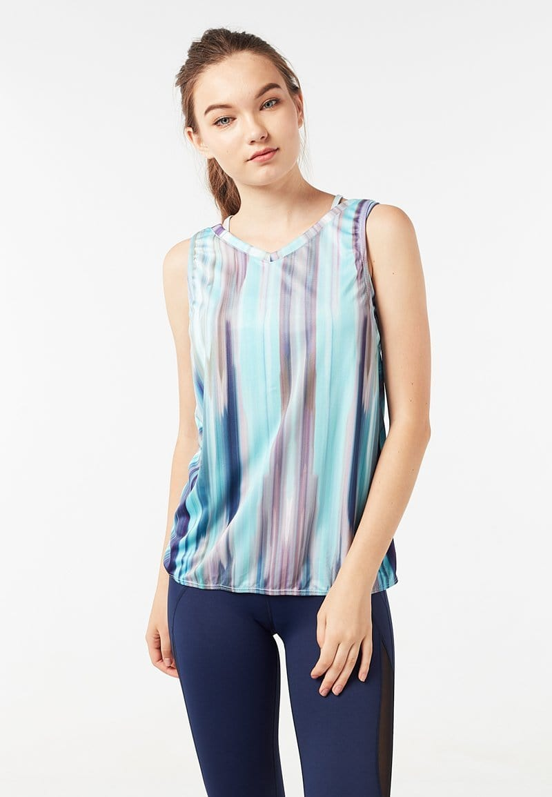 Batting Cross Back Tank Top (Iridescence) | XS – 2XL
