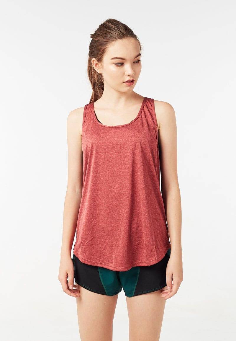 Mesh Racerback Tank Top (Heather Red) | XS - 2XL