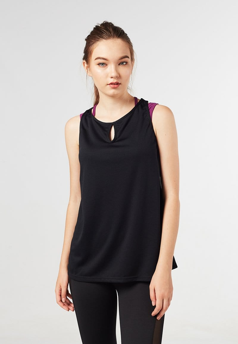 Keyhole Tank Top (Black) | XS – 2XL
