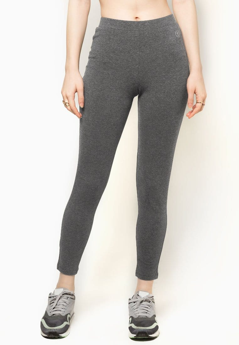 Basic Tapered Leggings in Light Grey (S - 3XL)