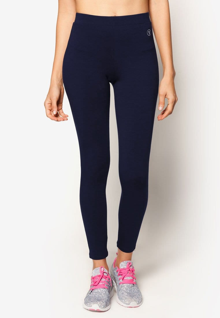 Basic Tapered Leggings in Navy (S - 3XL)