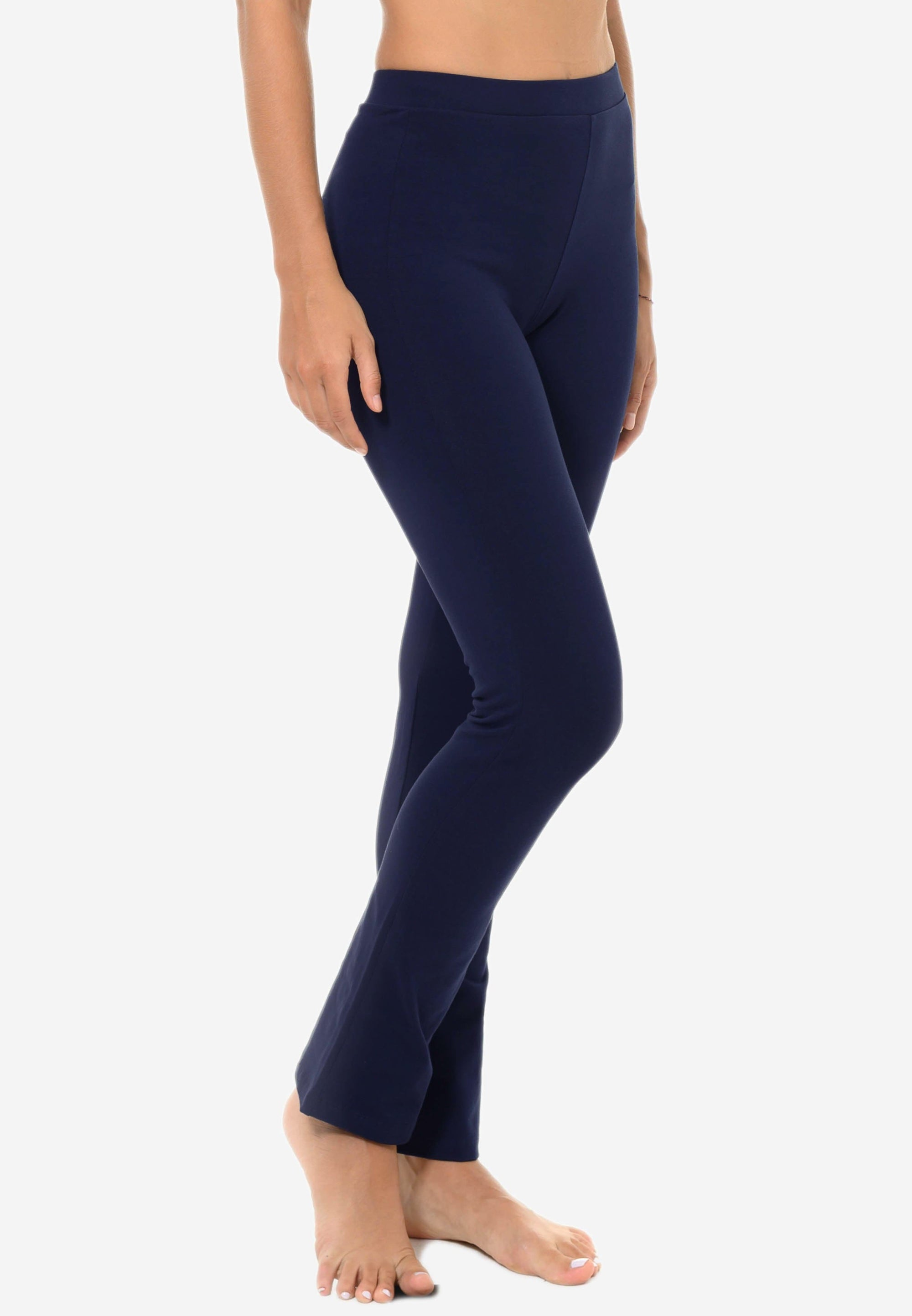 FUNFIT Basic Straight-Cut Flare Leggings in Navy (S - 3XL)