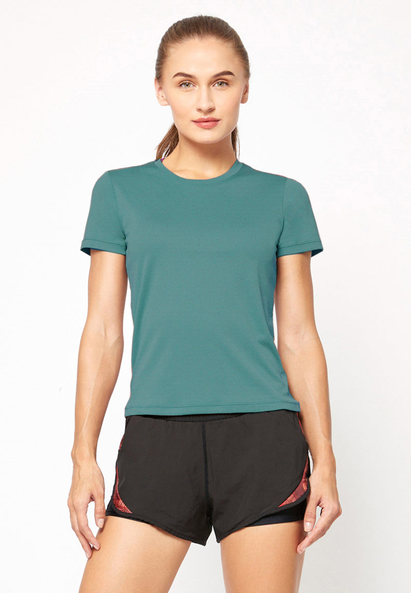 Agile Tee in Heather Green (S - 2XL)