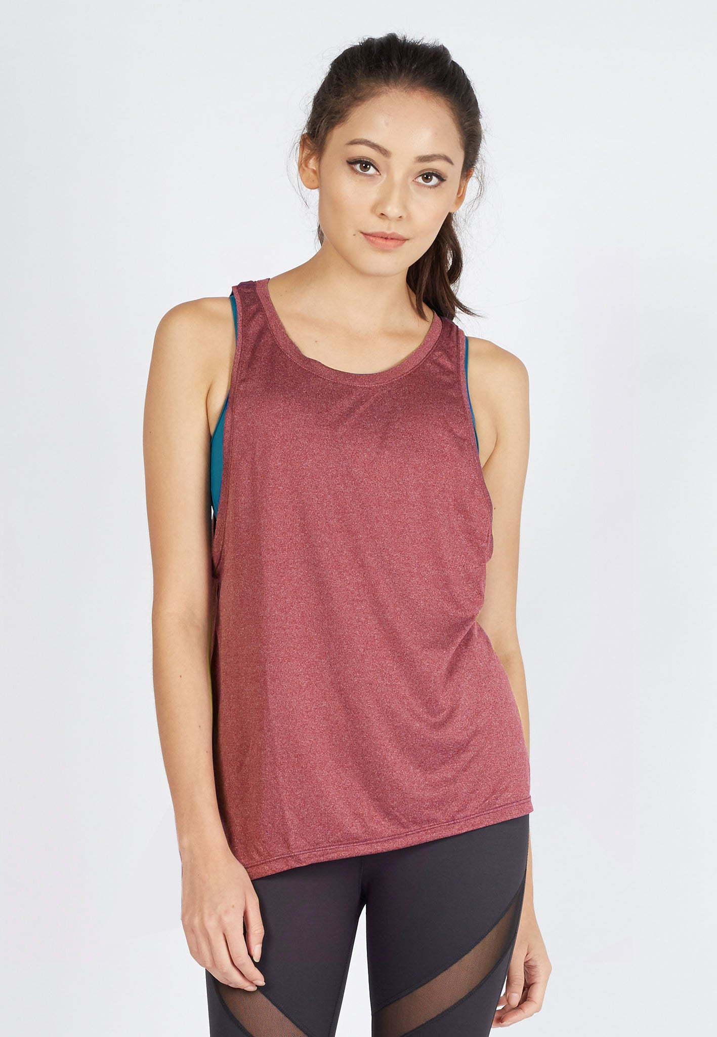 FUNFIT Agile Tank Top in Heather Red (S - 2XL)