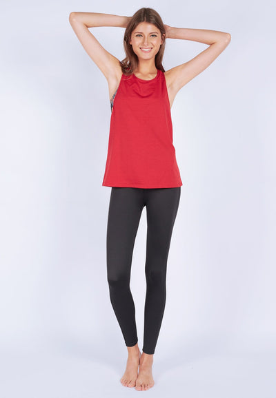 Slouchy Gym Tank in Heather Red - FUNFIT